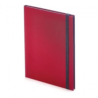 Еженедельник недатированный Tango, B5, бордовый, бежевый блок, черный обрез, ляссе