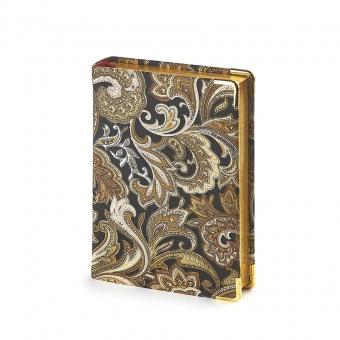 Ежедневник полудатированный Esmeralda, А6+, золотой, бежевый блок, золотой обрез, два ляссе