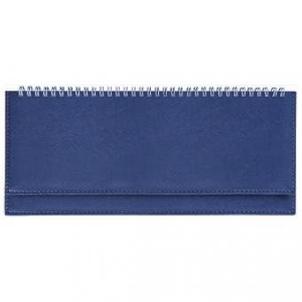 Планинг недатированный, Velvet, синий, 305х130 мм, белый блок, открытый гребень