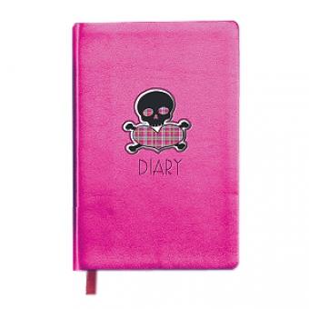 Ежедневник недатированный Rich, А6, розовый, бежевый блок, без обреза, ляссе