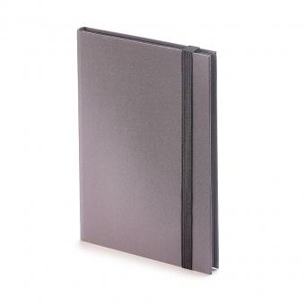 Еженедельник  недатированный Tango, B6, серый, бежевый блок, черный обрез, ляссе