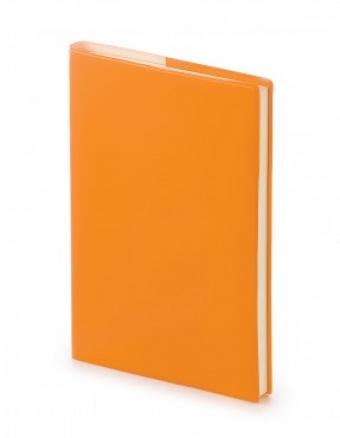 Ежедневник недатированный Glossy Pro, А5, оранжевый, бежевый блок, без обреза