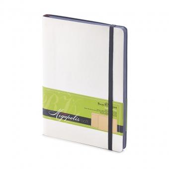 Блокнот без линовки Megapolis Soft, А5, белый, бежевый блок, контрастный с обложкой обрез, ляссе