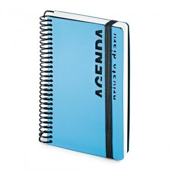 Ежедневник недатированный Agenda, В6, голубой, белый блок, без обреза, без ляссе