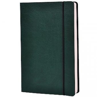 Ежедневник недатированный Vincent, А5,  зеленый, бежевый блок, без обреза, ляссе