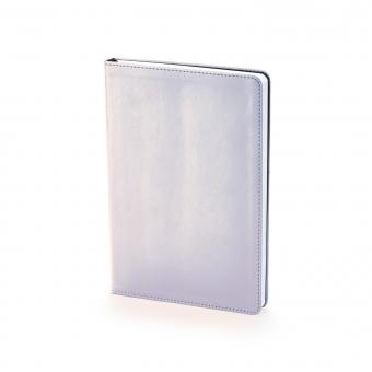 Ежедневник недатированный Stockholm, А5, серебряный, белый блок, без обреза