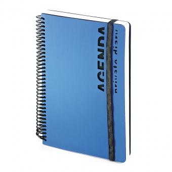 Ежедневник недатированный Agenda, В5, синий, белый блок, без обреза, без ляссе