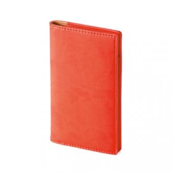 Еженедельник недатированный Concept, А6, красный, бежевый блок, без обреза, телефонная книга