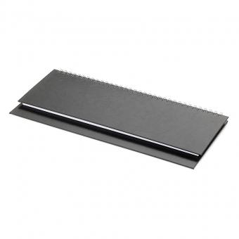 Планинг датированный Ideal New, черный, 305х130 мм, белый блок, открытый гребень