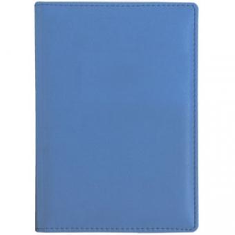 Ежедневник недатированный Velvet А5, синий флюор, белый блок, без обреза