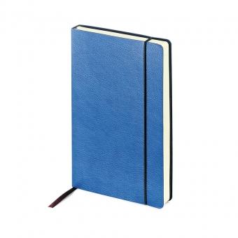 Ежедневник недатированный Vincent, А5,  синий, бежевый блок, без обреза, ляссе