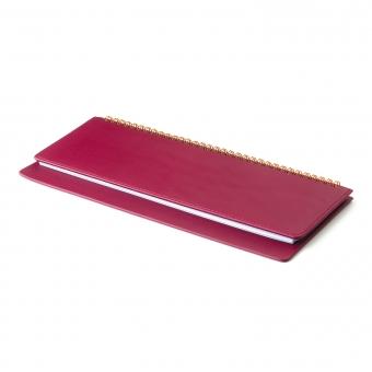 Планинг датированный, Velvet, бордовый, 305х130 мм, белый блок, открытый гребень