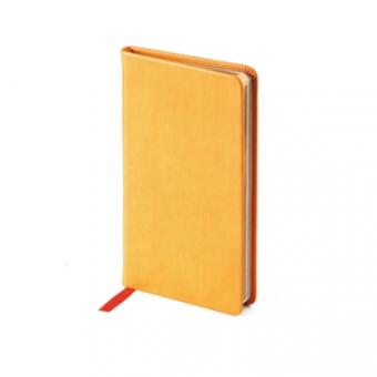 Еженедельник недатированный Megapolis Velvet, А6, оранжевый, бежевый блок, золотой обрез, ляссе