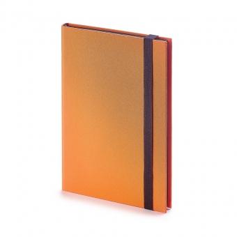 Еженедельник недатированный Tango, B6, оранжевый, бежевый блок, черный обрез, ляссе