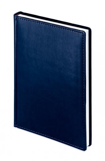 Ежедневник недатированный Velvet, А5, темно-синий , белый блок, без обреза