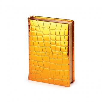 Ежедневник полудатированный Broadway, А6+, золотой, бежевый блок, бронзовый обрез, два ляссе