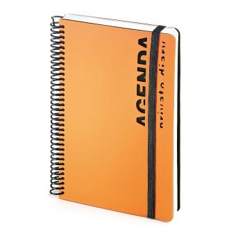 Ежедневник недатированный Agenda, В5, оранжевый, белый блок, без обреза, без ляссе