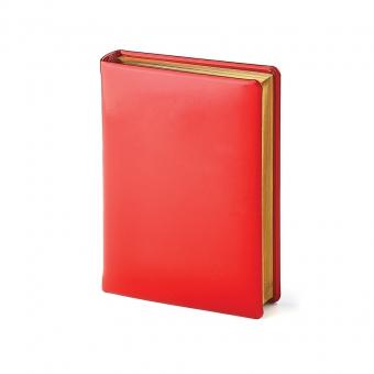 Ежедневник полудатированный Soho А6+, бежевый блок, золотой обрез, два ляссе