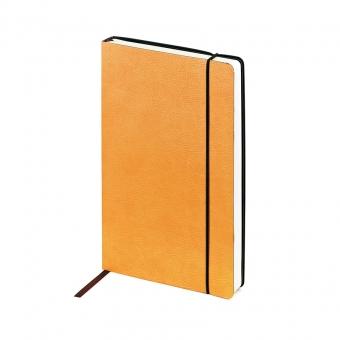 Ежедневник недатированный Vincent, А5,  оранжевый, бежевый блок, без обреза, ляссе