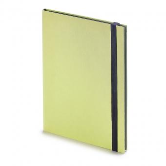 Еженедельник недатированный Tango, B5, лимонный, бежевый блок, черный обрез, ляссе