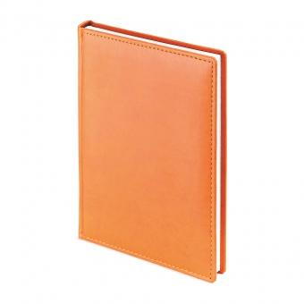 Ежедневник датированный Velvet, А5+, оранжевый, белый блок, без обреза