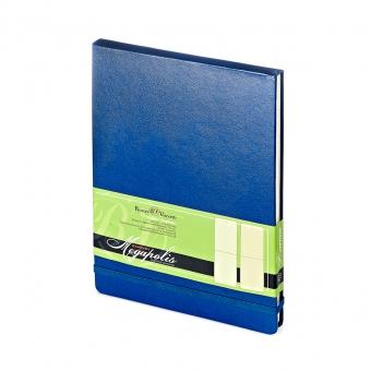 Ежедневник-блокнот недатированный Megapolis-Reporter, А5, синий, бежевый блок, без обреза
