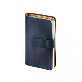Ежедневник недатированный Siena, синий, бежевый блок, без обреза, без ляссе