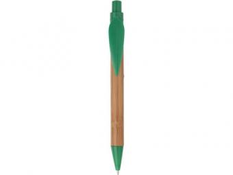 Ручка шариковая «Листок» бамбуковая/зеленая