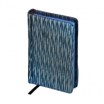 Eжедневник недатированный La Scala, синий, А6-, бежевый блок, синий обрез