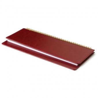 Планинг недатированный, Sidney Nebraska, бордовый, 305х130 мм, белый блок, открытый гребень