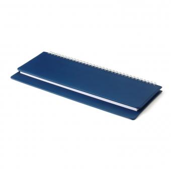 Планинг датированный, Velvet, темно-синий, 305х130 мм, белый блок, открытый гребень