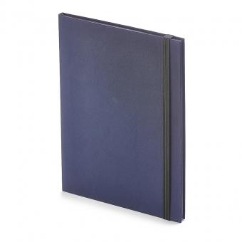 Еженедельник  недатированный Tango, B5, синий, бежевый блок, черный обрез, ляссе