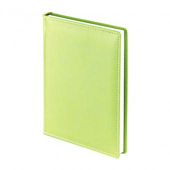Ежедневник недатированный Velvet А5, салатовый, белый блок, без обреза