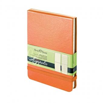 Ежедневник-блокнот недатированный Megapolis-Reporter, А6, оранжевый, бежевый блок, без обреза
