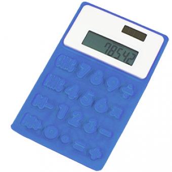 """Калькулятор """"Flexible""""; синий; 8х13х0,8 см; пластик; тампопечать"""
