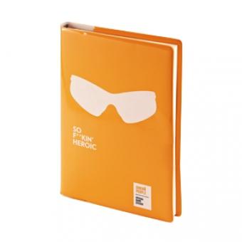 Ежедневник недатированный Crazy, А5, оранжевый, бежевый блок, без обреза, ляссе