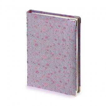 Ежедневник полудатированный Florence А5+, бежевый блок, серебряный обрез, два ляссе