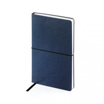 Ежедневник недатированный Status, А5, синий, белый блок, без обреза, ляссе