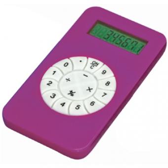 Калькулятор; розовый; 5,8х10,2х0,8 см; пластик; тампопечать