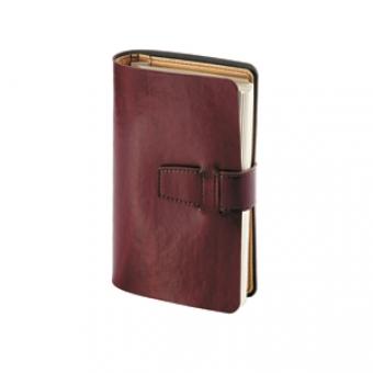 Ежедневник недатированный Siena, бордовый, А5, бежевый блок, без обреза, без ляссе