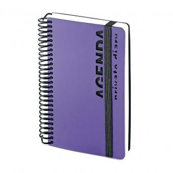 Ежедневник недатированный Agenda, В6, фиолетовый, белый блок, без обреза, без ляссе