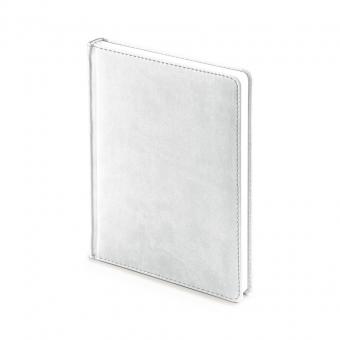 Ежедневник недатированный Velvet, А6+, белый, белый блок, без обреза, ляссе