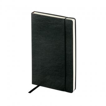 Ежедневник недатированный Vincent, А5,  черный, бежевый блок, без обреза, ляссе