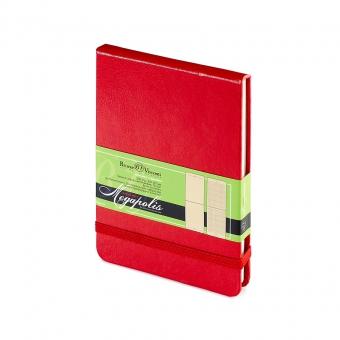 Ежедневник-блокнот недатированный Megapolis-Reporter, А6, красный, бежевый блок, без обреза