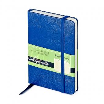 Ежедневник-блокнот недатированный Megapolis-Journal, А6, синий, бежевый блок, без обреза
