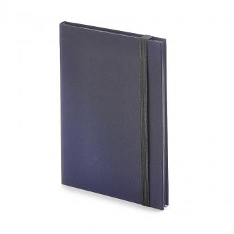 Еженедельник  недатированный Tango, B6, синий, бежевый блок, черный обрез, ляссе
