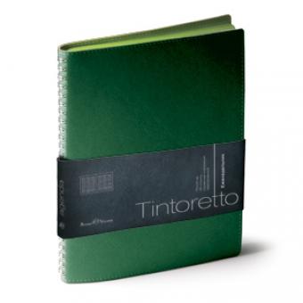 Еженедельник недатированный Tintoretto, B5, зеленый, белый блок, зеленый обрез