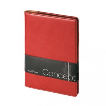 Еженедельник недатированный Concept, А5, бордовый, бежевый блок, без обреза