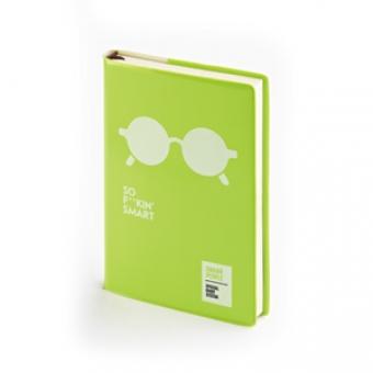 Ежедневник недатированный Crazy, А6, зеленый, бежевый блок, без обреза, ляссе