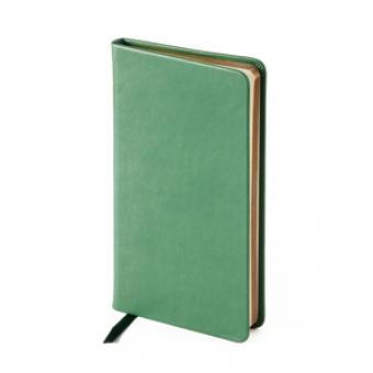 Еженедельник недатированный Megapolis Velvet, А6, зеленый, бежевый блок, золотой обрез, ляссе